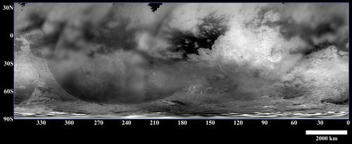 map of Titan's surface